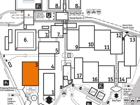 Medica 2019 Fairground Map