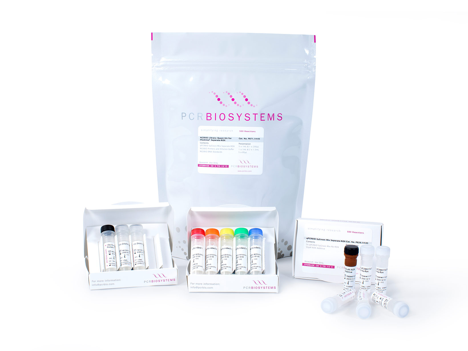 Product image showing NGSBIO Library Quant Kit for Illumina Separate-ROX 500 reactions