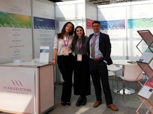 Photo of the PCR Biosystems booth at ECCMID 2019